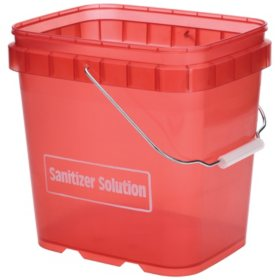 Ecolab Sanitizer Pail, Red (6 qt.)
