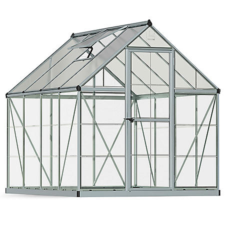 Palram Nature Hybrid 6' x 8' Greenhouse - Silver