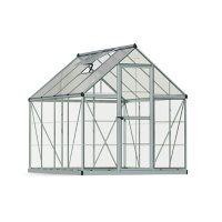 Palram | Canopia Hybrid 6' x 8' Greenhouse - Silver