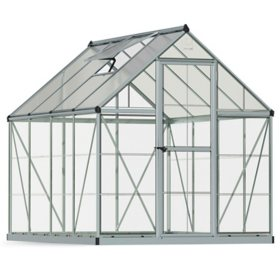 Palram Nature Hybrid 6' x 8' Greenhouse - Silver