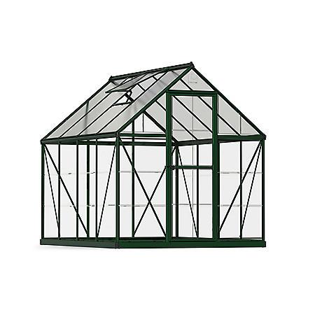 Palram Nature Hybrid 6' x 8' Greenhouse - Green - Sam's Club