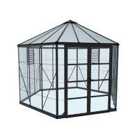 Palram | Canopia Oasis Hex 12' Greenhouse - Gray