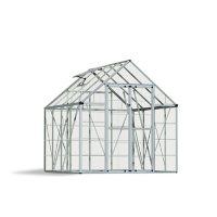 Palram | Canopia Snap & Grow Silver Greenhouse, 8' x 8'