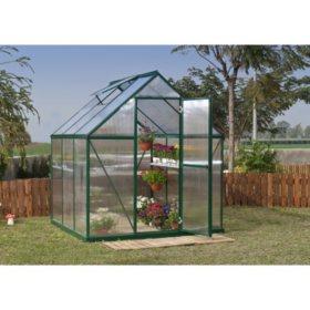 Palram Nature 6' x 6' Greenhouse - Green Frame - Twin-Wall