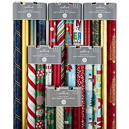 Hallmark Holiday Wrapping Paper Multipacks (Pack of 4)