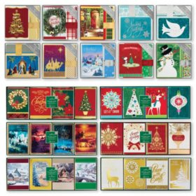 Hallmark Holiday Boxed Cards with Envelopes (Assorted Styles)
