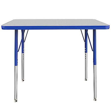 "24"" x 36"" Rectangle T-Mold Adjustable Activity Table (Assorted Options)"