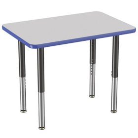 """24"""" x 36"""" Rectangle T-Mold Adjustable Activity Table (Assorted Options)"""