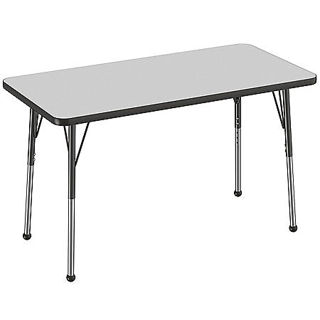 "24"" x 48"" Rectangle T-Mold Adjustable Activity Table with Standard Ball (Assorted Colors)"