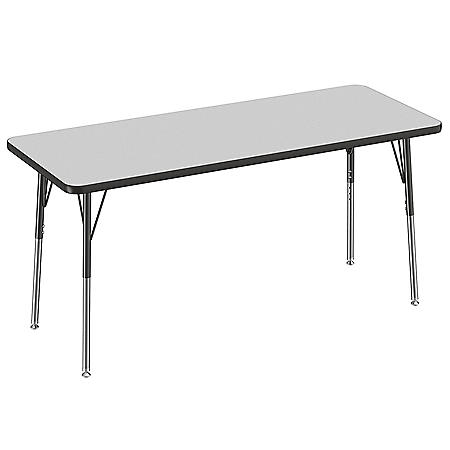 """24"""" x 60"""" Rectangle T-Mold Adjustable Activity Table (Assorted Options)"""