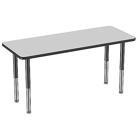 """24"""" x 60"""" Rectangle T-Mold Adjustable Activity Table with Super Leg (Assorted Colors)"""