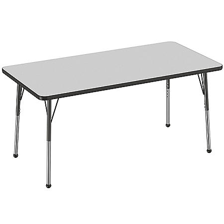 "30"" x 60"" Rectangle T-Mold Adjustable Activity Table with Standard Ball (Assorted Colors)"