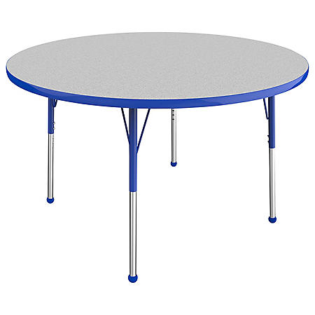 """48"""" Round T-Mold Adjustable Activity Table with Standard Ball (Assorted Colors)"""