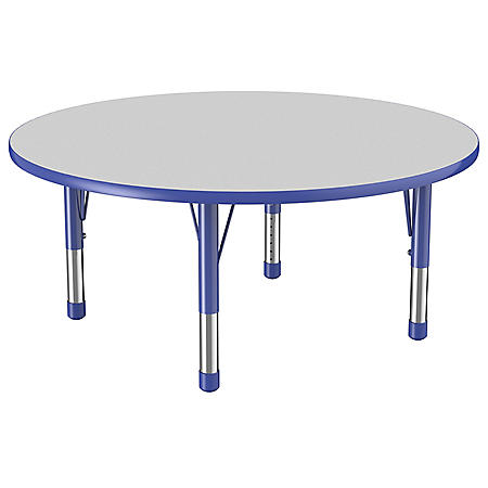 """48"""" Round T-Mold Adjustable Activity Table with Chunky Legs (Assorted Colors)"""