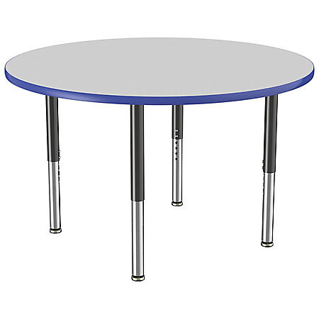 """48"""" Round T-Mold Adjustable Activity Table with Super Leg (Assorted Colors)"""