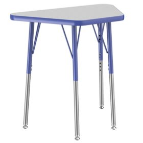 """18"""" x 30"""" Trapezoid T-Mold Adjustable Activity Table with Standard Swivel (Assorted Colors)"""