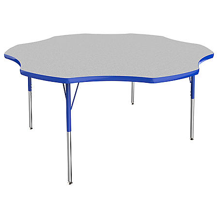 """60"""" Flower T-Mold Adjustable Activity Table (Assorted Options)"""