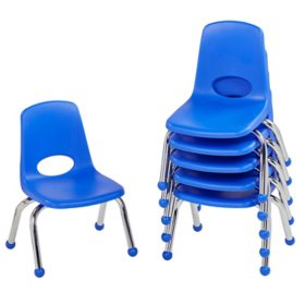 "10"" Stack Chair Ball Glide, 6-Pack (Assorted Colors)"