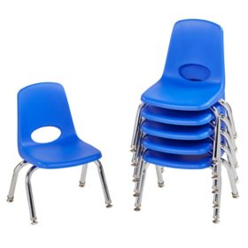 "10"" Stack Chair Swivel Glide, 6-Pack - Blue"