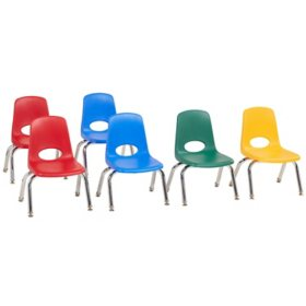 "10"" Stack Chair Swivel Glide, 6-Piece - (Assorted Colors)"