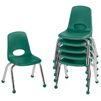 """12"""" Stack Chair Ball Glide, 6-Pack (Assorted Colors)"""