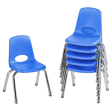 "12"" Stack Chair Swivel Glide, 6-Pack (Assorted Colors)"