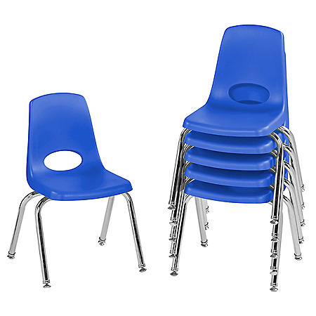 """14"""" Stack Chair Swivel Glide, 6-Pack (Assorted Colors)"""