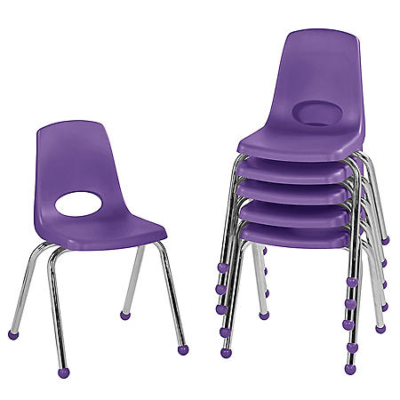 """16"""" Stack Chair Ball Glide, 6-Pack (Assorted Colors)"""
