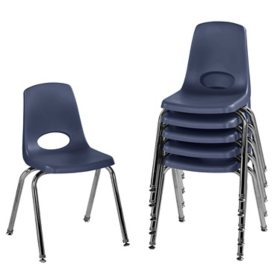 """16"""" Stack Chair Swivel Glide, 6-Pack  (Assorted Colors)"""