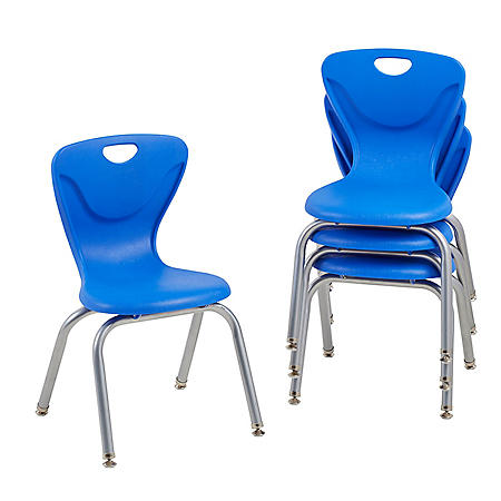 """14"""" Contour Chair Swivel Glide, 4-Pack (Assorted Colors)"""