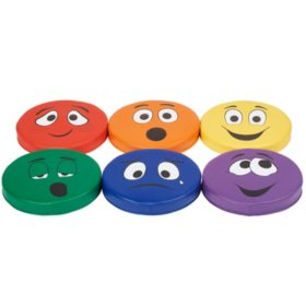 SoftScape Expression Cushions Round Set 2, 6-Piece - Assorted