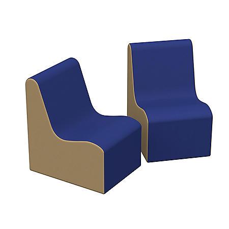 SoftScape Wave Preschool Chair, 2-Pack - Blue/Sand