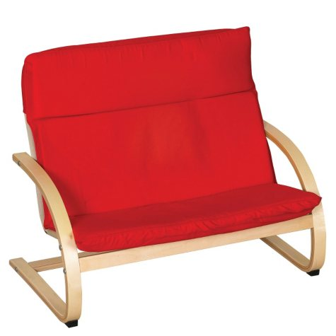ECR4Kids Double Seat Comfort Chair, Red