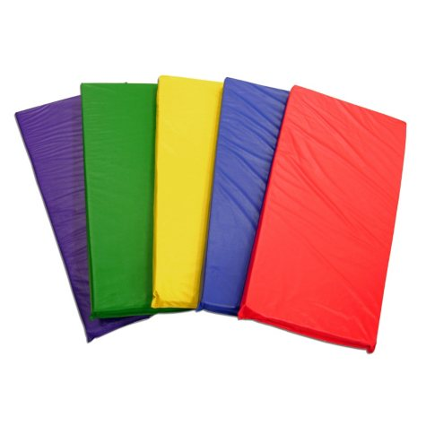 ECR4Kids Rainbow Rest Mats, Assorted Colors - 5 pack