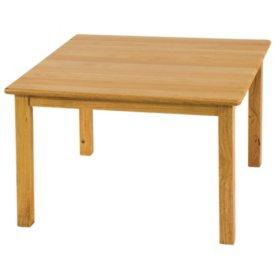 "ECR4Kids 24"" Square Hardwood Table"