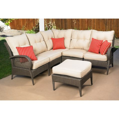 Mission Hills Laguna 6pc Seating Sectional with Ottoman