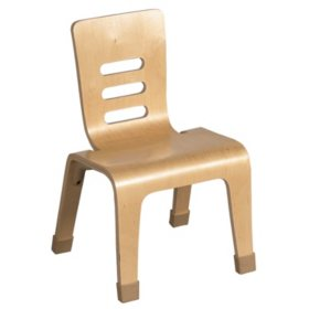 "ECR4Kids Children's 16"" Bentwood Chair, Natural Finish (2 pk.)"