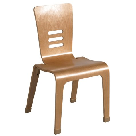 """ECR4Kids 18"""" Bentwood Chair, Natural Finish - 2 pack"""