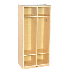 ECR4Kids 2-Section Birch Straight Coat Locker