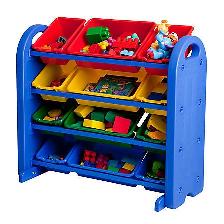ECR4Kids 4-Tier Plastic Storage Organizer