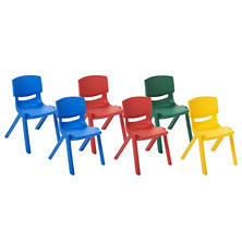 "ECR4Kids 12"" Resin Chair, Select Color - 6 pack"