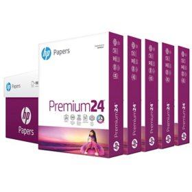 HP LaserJet Paper, 24lb, 97 Bright, Letter, Ultra White, 2500 Sheets/Carton