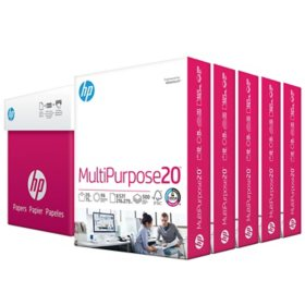 HP Multipurpose Copy Paper, 8.5x11, 96 Bright, 5 Ream