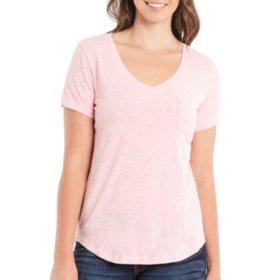 f0b57fe76784c Eddie Bauer Ladies Cotton Modal V-Neck Short-Sleeve Tee