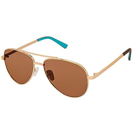 Free Country Women's Polarized Aviator Sunglasses