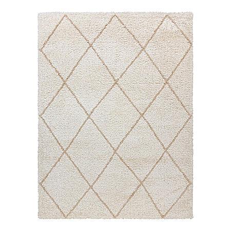"Thayer Shag Rug in Diamond Ivory, 7'10"" x 10'"