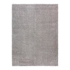 """Thayer Shag Rug in Solid Gray, 7'10"""" x 10'"""