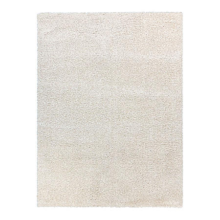"""Thayer Shag Rug in Solid Ivory, 7'10"""" x 10'"""