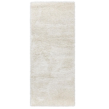 Thayer Shag Rug in Solid Ivory, Assorted Sizes