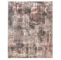 "Tuscany Area Rug, 63""x84"", Cece Rose/Grey"